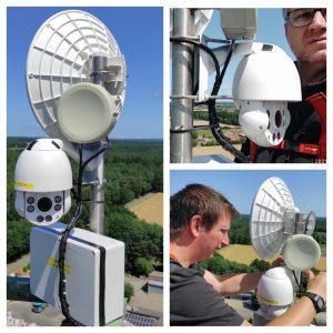 BILD: Die neue Kamera am HamNet Mast montiert