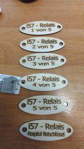 BILD: DG7JT Schlüsselanhänger mit Nummer für die Emslandrelais